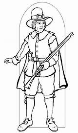 Pilgrim Coloring Pages Printable Pilgrims Thanksgiving Boy Indians Indian Sheets Activity Getcoloringpages Were 321coloringpages sketch template
