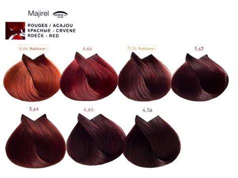 majirel loreal professionnel rossi hair color charts