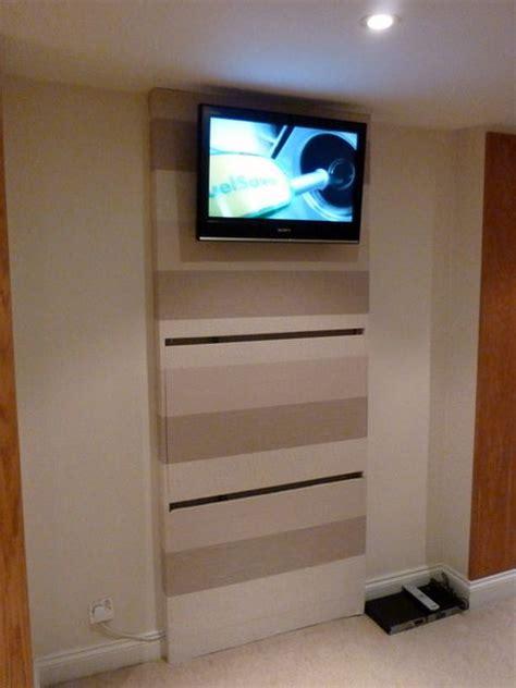 tv wall mount desk hidden pc