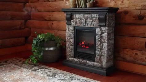 faux stone electric fireplace sku  plow hearth