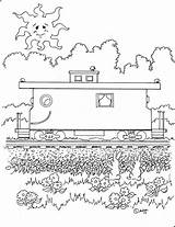 Caboose Coloring Adron Pages Mr Kid Charley Cheerful Printable sketch template
