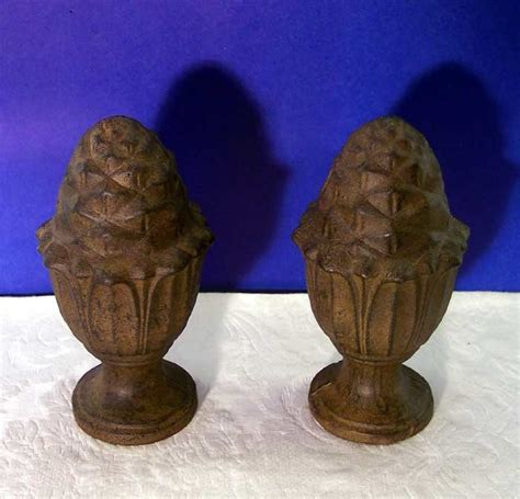 Antique L Finials by Garden Finials Antique Rust Finish Cast Iron Ebay