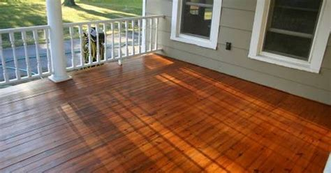 restaining a deck behr how to refinish wood porch floor autumn diy project