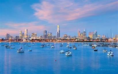 Melbourne Wallpapers Australia Skyline Desktop Definition Walldevil