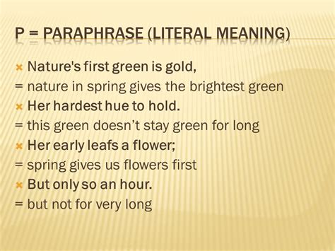 """Tp-castt """"nothing Gold Can Stay"""" By Robert Frost."""