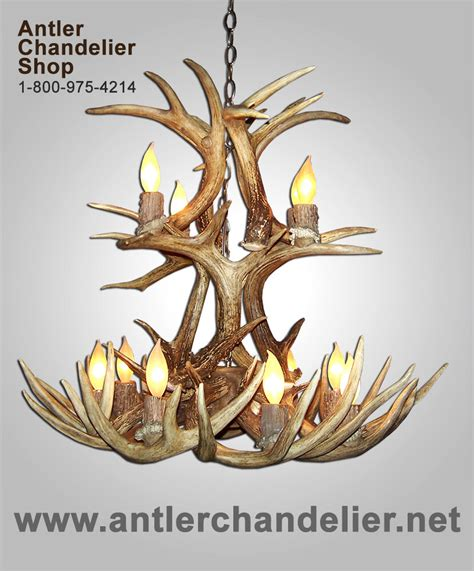 Antler Chandelier Shop by Real Antler Whitetail Cascade Deer Chandelier Lighting