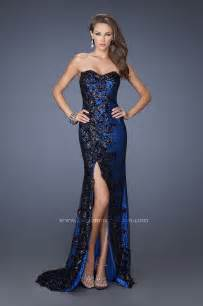 gallery for gt blue and black prom dresses