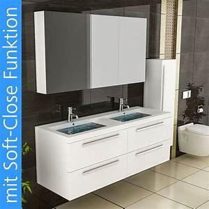 Doppelwaschbecken Mit Unterschrank Und Spiegelschrank : waschtisch unterschrank doppelwaschbecken eckig weiss ~ Watch28wear.com Haus und Dekorationen