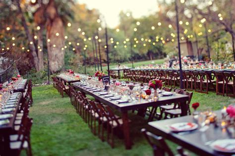 Wedding Reception In Backyard by Languid Lovely Backyard Wedding