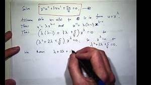 Cauchy-euler Differential Equation