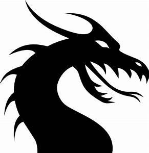 Dragon Head Silhouette Clip Art at Clker.com - vector clip ...