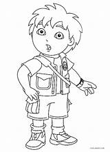 Coloring Diego Printable Pages sketch template