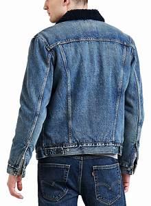 Diesel Mens Size Chart Levis Mens Sherpa Fur Collar Denim Trucker Jacket Indigo