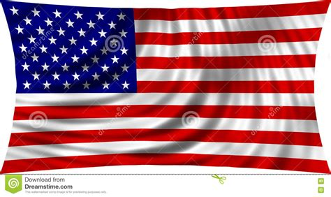 who designed the american flag flag of usa waving in wind isolated on white stock