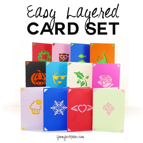 diy greeting card set fast easy layers  images