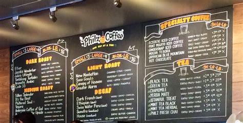 Tries to provide nutrition information regarding its products that is as complete and accurate as possible. Philz Menu - love the Mint Mojito Coffee - Yelp