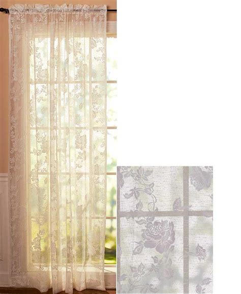 new vintage lace curtains swag valance white 63