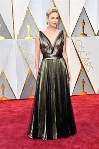 oscars 2017 charlize theron does the expected with a With robe oscar 2017