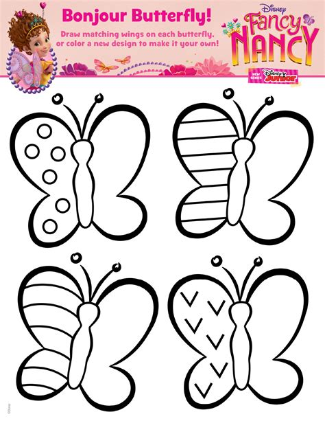 fancy nancy coloring pages fancy nancy butterfly coloring page disney family