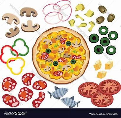 Pizza Ingredients Vector Royalty