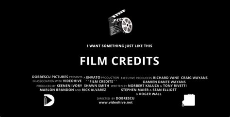 tv credits template film credits by dobrescu videohive