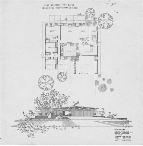 eichler plan oj   bdrm bath architecture