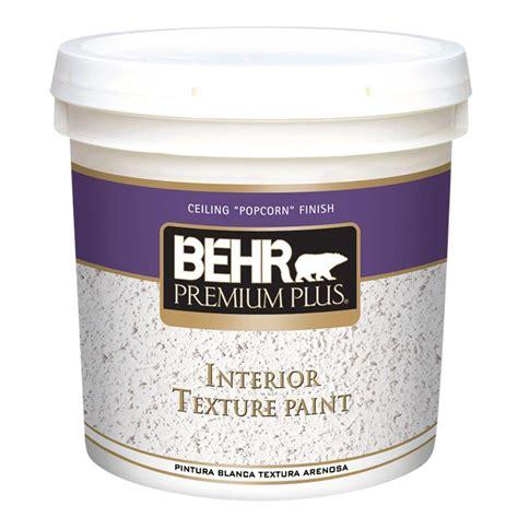 Behr Premium Plus 2 Gal Popcorn Flat Interior Texture