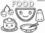 Coloring Pages Cutefood Colorings sketch template