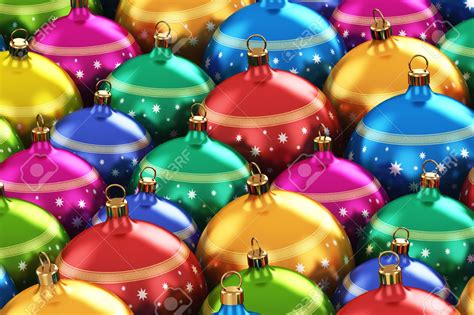 Colorful Christmas Ornament Backgrounds  Happy Holidays