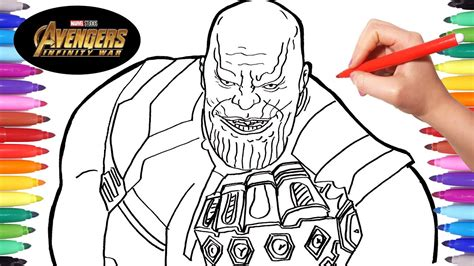 avengers infinity war thanos drawing  coloring thanos