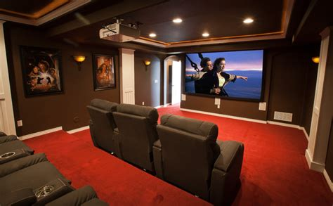 Artwork Projector by Elkstone Theater In A Finished Basement Contemporary