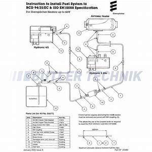 Eberspacher Marine Heater Fuel Pipe Kit Iso7840