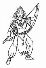 Archer Coloring Colorear Kleurplaat Queen Prinzessin Princesa Arquera Bogen Dibujo Coloriage Malvorlage Dem Colorare Principessa Disegno Avengers Archi Degli Colouring sketch template