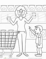 Coloring Grocery Worksheet Kindergarten Education Worksheets Preschool Colors Places Servicenumber Grade Math Articol sketch template