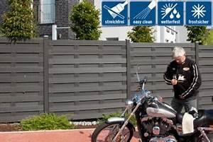 Sichtschutzzaun Kunststoff Günstig : sichtschutzzaun wpc jumbo wpc anthrazit hier g nstig online kaufen ~ Watch28wear.com Haus und Dekorationen