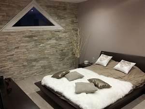 des pierres dans la chambre a coucher voici 20 idees deco With quelle couleur marier avec le taupe 5 chambre taupe et couleur lin idees deco ambiance zen