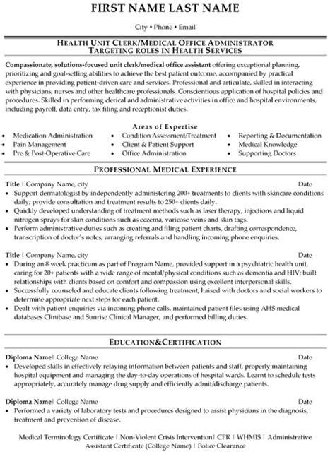 top medical resume templates samples