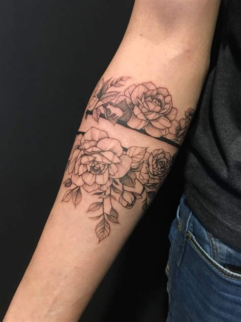 tattoo floral band roses   tinge  foppy