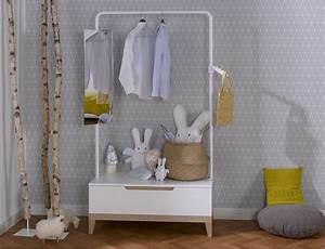 Petit Portant Vetement : comment optimiser l 39 espace dans la chambre d 39 un enfant ~ Nature-et-papiers.com Idées de Décoration