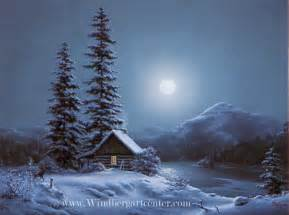 Winter Snow Scenes at Night