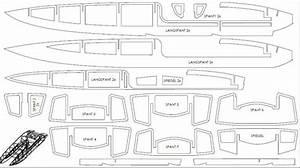 R  C Catamaran Boat Parts Blueprint