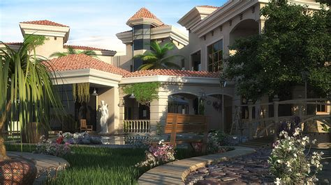 villa andalusian behance