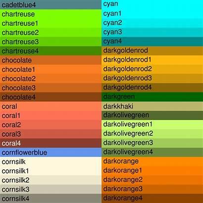 Names Colors Shades Ncl Named Orange Rgb