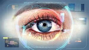 Human Eye Identification Scan Technology Stock Footage