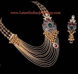 jewellery design designer multi string gold jadau necklace