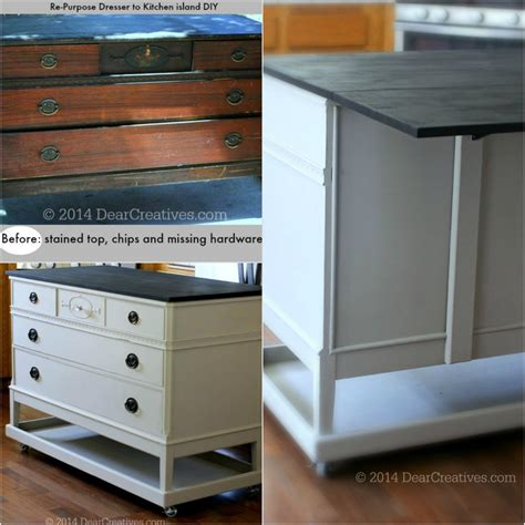 dresser kitchen island dresser to kitchen island cart diy with chalkyfinish