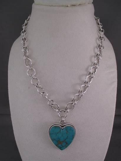 Necklace Pendant Heart Turquoise Artie Yellowhorse Royston