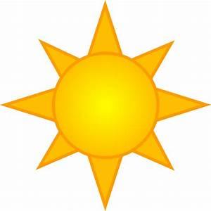 Bright Yellow Sun Symbol - Free Clip Art