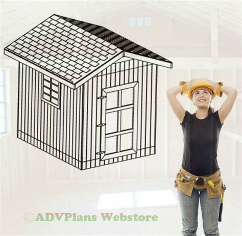 gable roof utility shed  barn garden shed plans