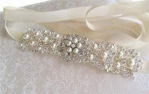 Silver wedding sash bridal belt rhinestone wedding dress for Wedding dress sashes with crystals